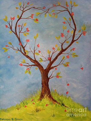 Hearts On Trees Painting - Heart Tree by Deborah Smith