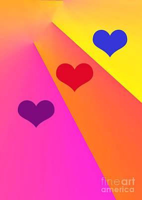 Digital Art - Heartbeams by Susan Stevenson