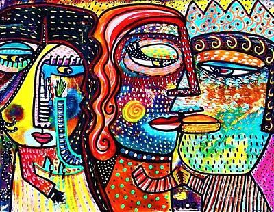 Heartbreak Dance Art Print by Sandra Silberzweig