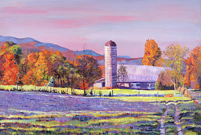 Romantic Realism Painting - Heartland Morning by David Lloyd Glover