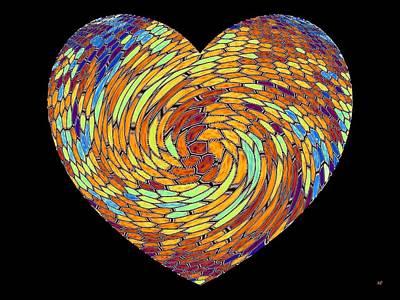 Digital Art - Heartline 8 by Will Borden