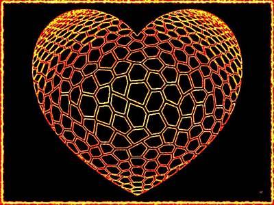 Digital Art - Heartline 9 by Will Borden