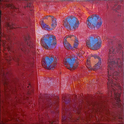 Painting - Hearts by Ann Powell