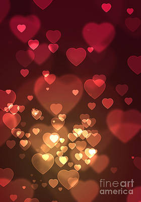 Valentines Photograph - Hearts Background by Carlos Caetano