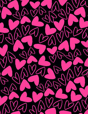 Hearts Print by Louisa Knight
