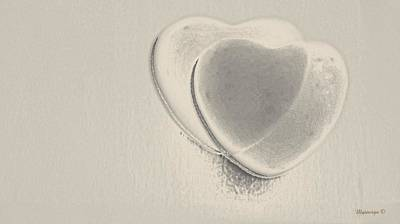 Hearts-smooth Art Print by Ines Garay-Colomba