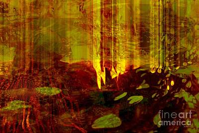 Faniart Africa America Mixed Media - Heat Fire Flames by Fania Simon