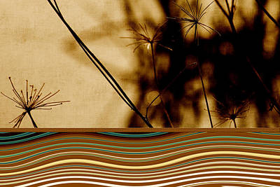Earthtones Mixed Media - Heat Waves by Bonnie Bruno