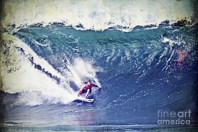 Surfing Photograph - Heath Joske Surfing Pipeline by Paul Topp