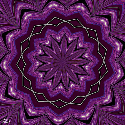 Art Print featuring the digital art Heather And Lace by Alec Drake