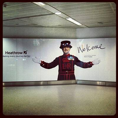 London Wall Art - Photograph - #heathrow #airport #london #welcome by Abdelrahman Alawwad
