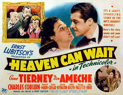 Heaven Can Wait, Gene Tierney, Don Art Print