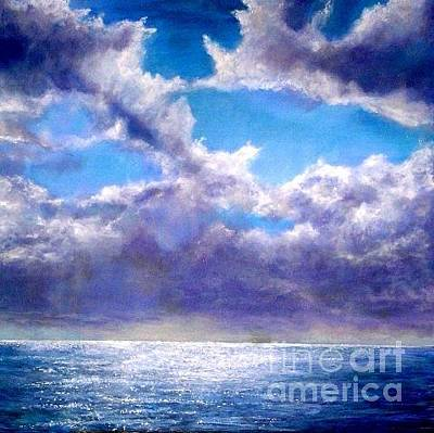 Painting - Heaven In The Sky And Sea by Marie-Line Vasseur