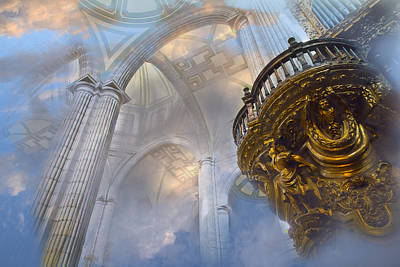 Heavenly Cathedral Art Print by John  Bartosik