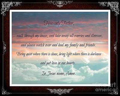 Heavenly Father Prayer Art Print