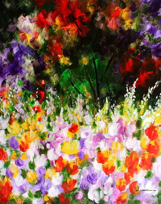 Art Print featuring the painting Heavenly Garden by Kume Bryant