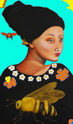 Christina Miller Painting - Heavenly Mother Of The Honeybee Photoshop by Christina Miller