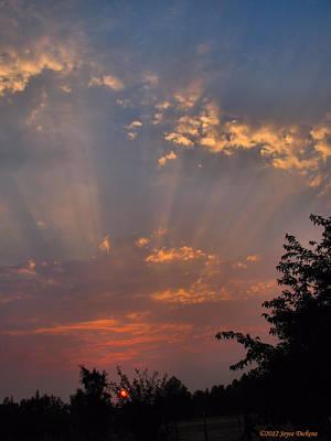 Heavenly Rays Art Print by Joyce Dickens