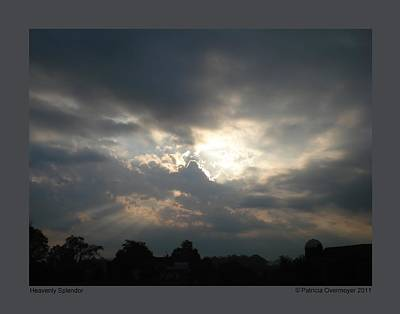 Art Print featuring the photograph Heavenly Splendor by Patricia Overmoyer