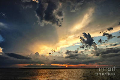Photograph - Heavenly Sunset by Cheryl Davis
