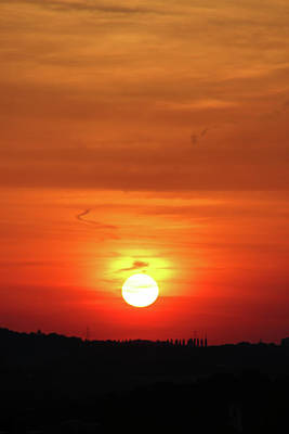Heavenly Sunset Print by Mariola Bitner