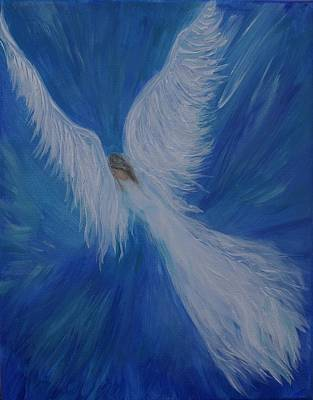 Painting - Heavens Comforting Angel by Leslie Allen