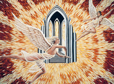 Art Print featuring the painting Heavens Gate by Kurt Jacobson