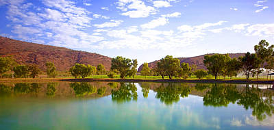 Photograph - Heavitree Gap Reflected by Paul Svensen
