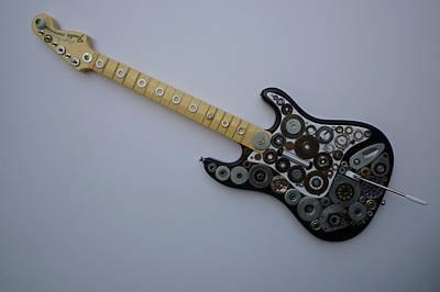 Heavy Metal Guitar Art Print