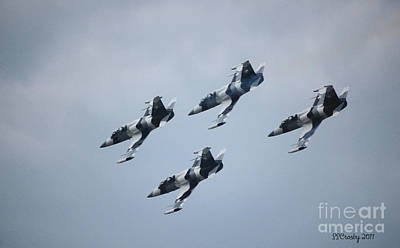 Heavy Metal Jet Team Art Print by Susan Stevens Crosby