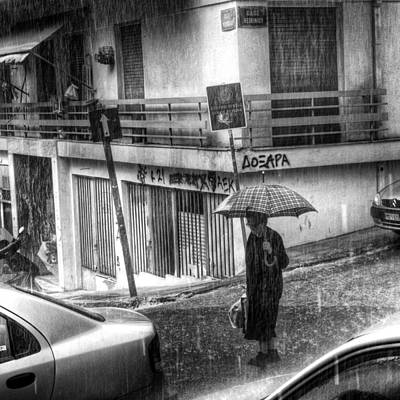 Photograph - Heavy Rain by Stamatis Gr