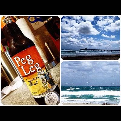 Beer Wall Art - Photograph - Heavy Seas. 😉 #pegleg #heavyseas by Emily W