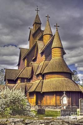 Heiko Koehrerwagner Photograph - Heddal Stave Church  by Heiko Koehrer-Wagner