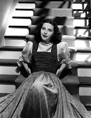 Puffed Sleeves Photograph - Hedy Lamarr, 1940, Photo By Clarence by Everett