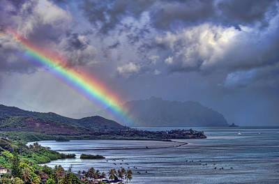 Photograph - He'eia Fishpond Rainbow by Dan McManus
