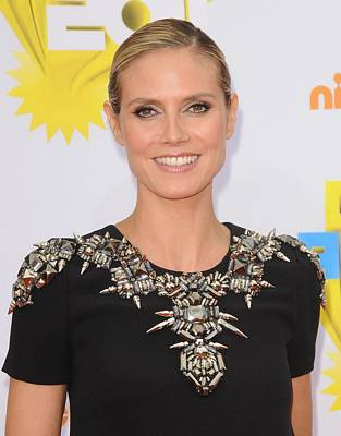 Bestofredcarpet Photograph - Heidi Klum At Arrivals For Nickelodeons by Everett