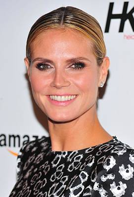 Hair Bun Photograph - Heidi Klum In Attendance For Heidi Klum by Everett