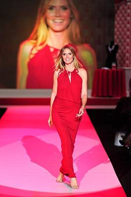 Mercedes-benz Fashion Week Show Photograph - Heidi Klum Wearing A John Galliano Gown by Everett