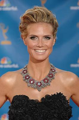 Statement Necklace Photograph - Heidi Klum  Wearing A Lorraine Schwartz by Everett