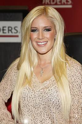 Heidi Montag At In-store Appearance Art Print by Everett