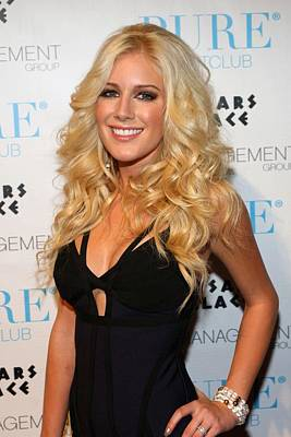 Heidi Montag In Attendance For Pures Art Print by Everett