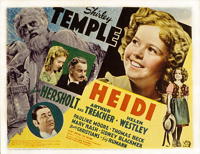 Posth Photograph - Heidi, Shirley Temple, Jean Hersholt by Everett