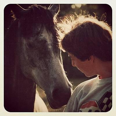 Horse Photograph - Heike & Her Horse by Natasha Marco