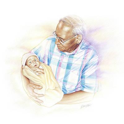Greatest Generation Drawing - Held From Heaven by Steven Tetlow