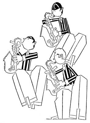 Saxophonist Photograph - Held: Saxophonists, 1930 by Granger