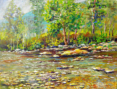Painting - Helen Georgia Creek by Lou Ann Bagnall