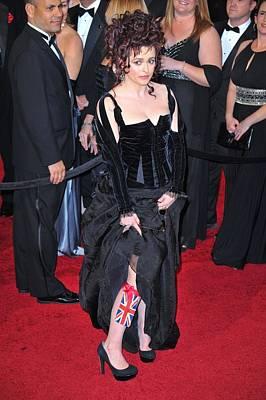 Helena Bonham Carter Wearing A Colleen Art Print by Everett