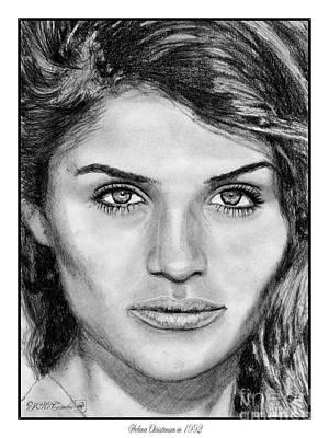 Catwalk Drawing - Helena Christensen In 1992 by J McCombie
