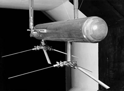 Wings Of Wind Photograph - Helicopter Model In A Wind Tunnel, 1957 by National Physical Laboratory (c) Crown Copyright