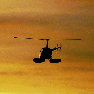 Photograph - Helicopter Sunset by Patricia Januszkiewicz